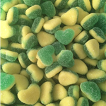 FIZZY APPLE or STRAWBERRY & CUSTARD HEARTS (2 varieties to choose from)
