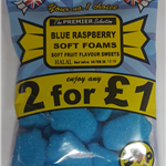 BLUE RASPBERRY SOFT FOAMS (EXCLUSIVE UK PRODUCT)