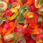 GUMMY or FIZZY FRUIT RINGS (7 varieties to choose from)