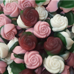 GUMMY or FIZZY FLOWER ROSE (5 varieties to choose from)