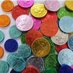 CHOCOLATE COINS and BANKNOTES (ALL V)