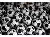 black & white chocolate footballs (wrapped)