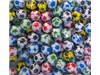 multi-coloured footballs (wrapped)