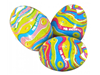 coloured paper wrapped creme eggs