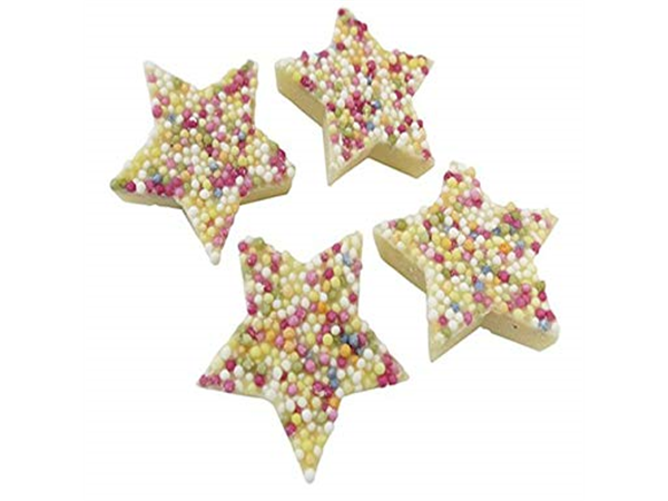 white chocolate snowies stars