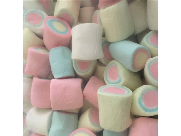 big multi colour mallows with multi colour centres