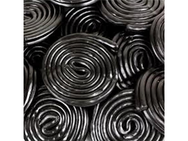liquorice flavour rotella wheels