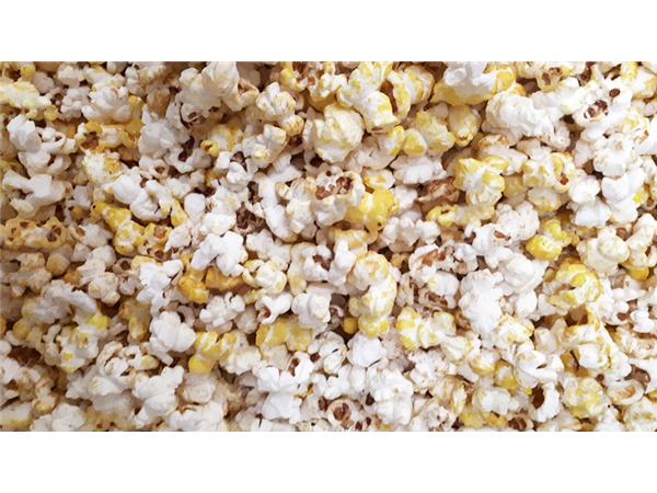 yellow colour popcorn with a hint of banana flavour