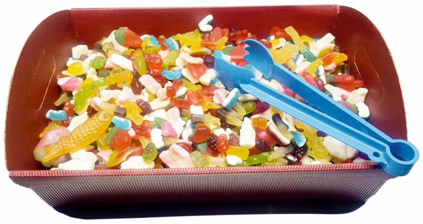 or choose in factory pack below for a 3kg gummy & jellies mix tray